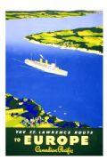 Vintage shipping poster, st.Lawrence to Europe Canadian Pacific